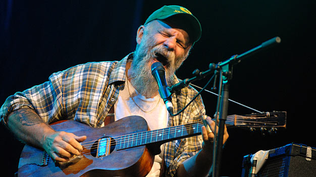 This is a performer named Seasick Steve. I thought it'd be nicer than a shot of someone yerking off the side of a boat.